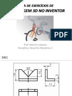 Lista Exercicio Modelagem 3D SolidWorks