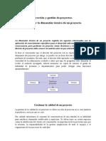 Dimensiones de proyectos