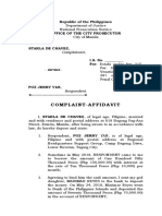 Assignment Complaint Affidavit
