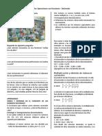 Ficha 1 Operaciones Con Fracciones