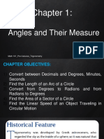 Chapter 1 Angles and Their Measure