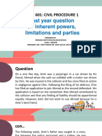 PYQ ON INHERENT POWERS, LIMITATION PERIOD, JOINT PARTIES