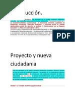 Proyecto y Nueva Ciudadania