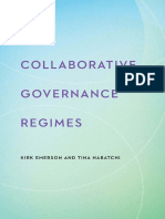 Collaborative Governance Regimes