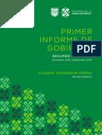 Primer Informe de Gobierno CDMX_Resumen Ejecutivo