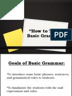 How to Teach Basic Grammar