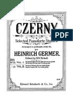 Czerny - Selected Pianoforte Studies - Book I - Part I & II - Edition Germer