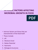 Intinsic Factors Affecting Microbial Growth in Food