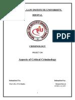 Criminology Project Mahesh