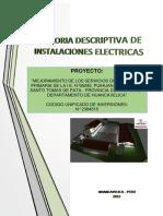 3.3 Memo. DESC. Instal. Elect. VILLA RICA 2019