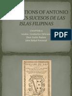 Annotations of Antonio Morgas Sucesos de Las Islas