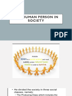 Human person in society