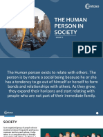 The Human Person in Society (1)