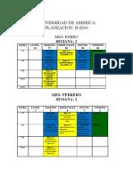 Cronograma de Actividades II 2010