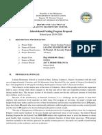 Program Proposal SBFP 2019-2020