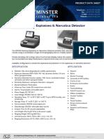 Explosive Narcotics Desktop Analser and Detector