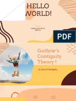 guthrie's contiguity theory ppt.