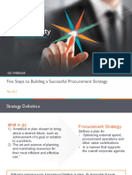 Five Steps to Building a Successful Procurement Strategy
