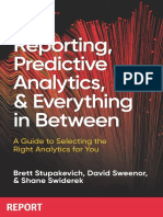 Reporting to Predictive Analytics