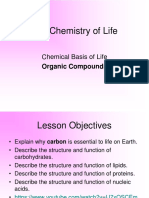 7b. the Chemical Basis for Life---OrGANIC COMPOUNDS