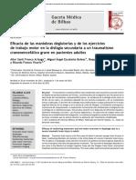 Eficacia de las maniobras deglutorias y de los ejercicios de trabajo motor en la disfagia secundaria a un TCE grave en pacientes adultos