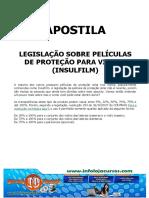 Legislação sobre Películas de Proteção para Vidros (Insulfilm)