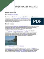 Economic Importance of Molluscs
