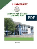 Almanac for 2019-2020 Academic Year1