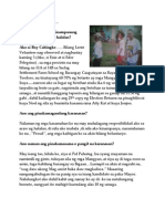 Pagtataya Ni Boy, Mangyan Lente Volunteer