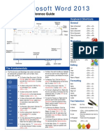 Word 2013 - Quick Reference Guide