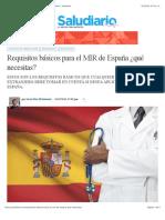 Requisitos básicos para el MIR de España ¿qué necesitas? | saludiario
