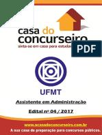 Apostila Ufmt 2017 Assistente Administrativo