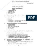 Taxation Pilot Questionsx