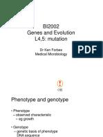 Dr. Budiman- Mutation and Mutagenesis