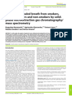 Analysis of Exhaled Breath From Smokers