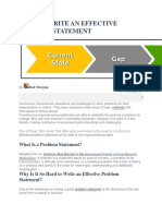 How to Write an Effective Problem Statement