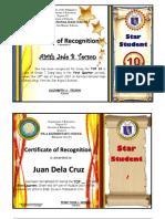 Award Certificates EDITABLE