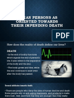 HUMAN PERSONS AS ORIENTED TOWARDS THEIR IMPENDING DEATH