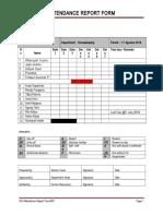 Attendance Report Form