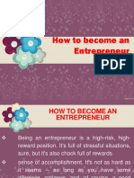 How to Become an Entrepreneur Part 1
