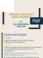 5 Project Quality Management
