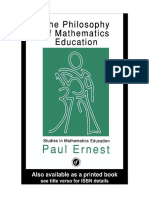 Terjemahan Buku the Philosophy of Mathematics Education - Paul Ernest