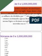 Numeros de 0 a 1000000000 Em Ingles