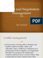 Conflict and Negotiation results
