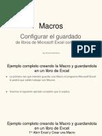 5- Configurar El Guardado de Libros de Microsoft Excel 2010 Con Macros