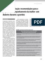 Diretrizes SBD Diabetes Gestacao
