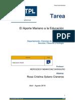 Tarea Aporte Mariano a La Educación-