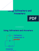 Using Voltmeters and Ammeters