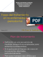 fases del tratamiento en la enfermedad periodontal