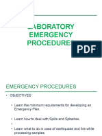 Lab Emergency Procedure